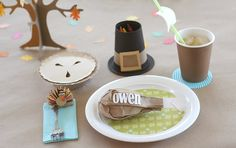 turkey day crafts/table setting for the kiddos
