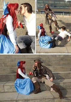 Ariel & Jack Sparrow. And the next part is where I get rid of Ariel and then it's just me and Captain Jack <3