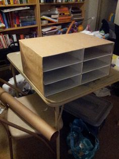DIY Cereal Box to Literature Sorter or Paper Tray