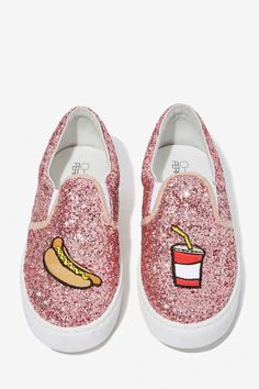 Chiara Ferragni Glitter Pop 'n Dog Slip-On Sneaker - Shoes | Flats