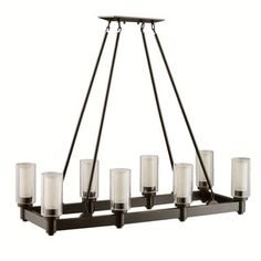Kichler Lighting Circolo Collection 8-light Olde Bronze Linear Chandelier - Free Shipping Today - Overstock.com - 18784761 - Mobile
