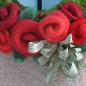 Felted Roses - via @Craftsy