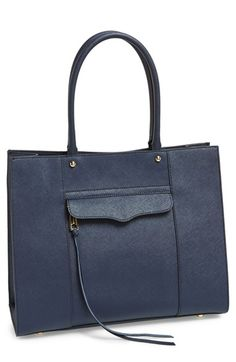 Free shipping and returns on Rebecca Minkoff 'Medium MAB' Tote at Nordstrom.com. Elegant rolled handles top Rebecca Minkoff's iconic Morning After Bag, rendered in rich crosshatched leather. For a perfect finishing touch, leather laces trail from the decorative front zipper.