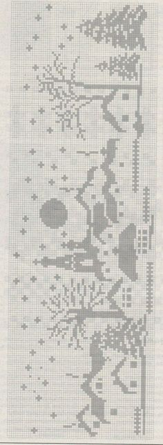 Xmas Cross Stitch, Cross Stitch Borders, Cross Stitch Baby, Cross Stitching, Cross Stitch Patterns, Crochet Cross, Crochet Chart, Blackwork Embroidery, Cross Stitch Embroidery