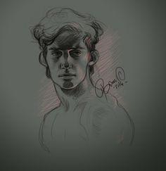 """David"" by Sylwia Bomba http://wandererbomba.blogspot.it  ✤ || CHARACTER DESIGN REFERENCES | キャラクターデザイン |  • Find more at https://www.facebook.com/CharacterDesignReferences & http://www.pinterest.com/characterdesigh and learn how to draw: concept art, bandes dessinées, dessin animé, çizgi film #animation #banda #desenhada #toons #manga #BD #historieta #strip #settei #fumetti #anime #cartoni #animati #comics #cartoon from the art of Disney, Pixar, Studio Ghibli and more || ✤"