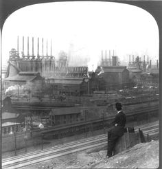 Historic Pittsburgh, Pennsylvania - Homestead Steel Works (circa 1907) (Library of Congress)