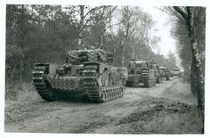 Churchill tank column #worldwar2 #tanks