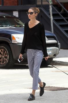 LOVE HER! #oliviapalermo #gingham