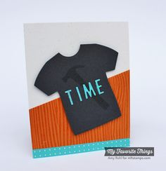 Let's Tool Around, Woodgrain Background, Blueprints 15 Die-namics, Masculine Graphic Tee Die-namics, Negative Dot Alphabet Die-namics - Amy Rphl #mftstamps