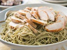 Angel Hair Pasta with Chicken and Avocado Pesto Recipe | Trisha Yearwood | Food Network