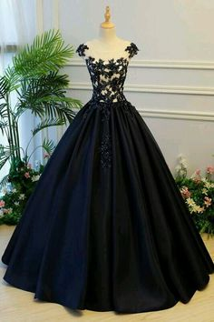 Cap Sleeve Black Lace A line Simple Long Evening Prom Dresses, Long Party Prom D. - Cap Sleeve Black Lace A line Simple Long Evening Prom Dresses, Long Party Prom Dresses, 17327 Source by - Elegant Dresses, Pretty Dresses, Beautiful Dresses, Formal Dresses, Formal Prom, Prom Long, 1950s Dresses, Dresses Dresses, Dresses Online