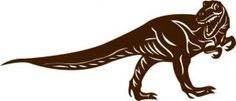 Tyrannosaurus-dinosaur-decal - choose your size and color for kids room! Many more to choose from. http://www.vinyl-decals.com/products.php?cat=211