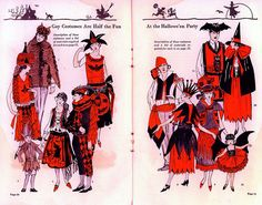Vintage Halloween Ephemera ~ Two pages from a Halloween costume catalog · Circa, 1920's