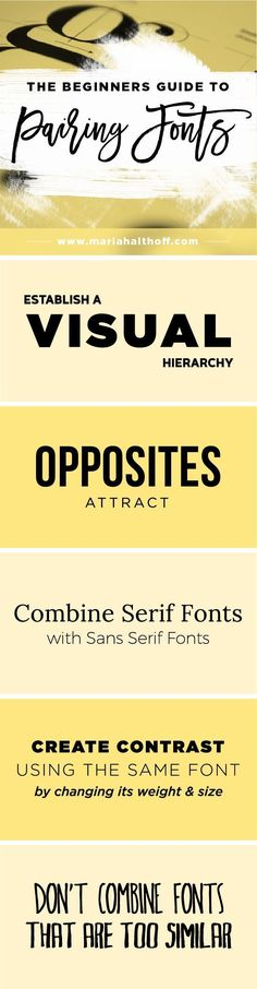 Business infographic : Business infographic : How to create an impactful font pairing is important for