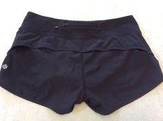Lululemon Speed Shorts 6 Womens Solid black #Lululemon #Shorts