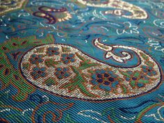 Brand New Persian Termeh Decorative Tablecloth woven with silver threads