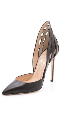 The sculptural heel element is killing us...Alejandro Ingelmo d'Orsay pumps