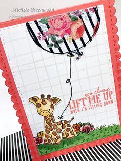 #giraffe #wplus9 #partyanimal #balloon #rah #rightathome #youliftmeup #pti #papertreyink #altenew #halftonestencil #stencil