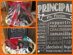 Personalized gift basket for a great principal