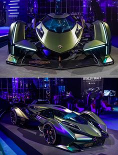 New Lamborghini Vision Gran Turismo Looks Like a Cooler Batmobile - All About CARS Exotic Sports Cars, Cool Sports Cars, Cool Cars, Bugatti Cars, Lamborghini Cars, Lamborghini Gallardo, Porsche, Audi, Street Racing Cars