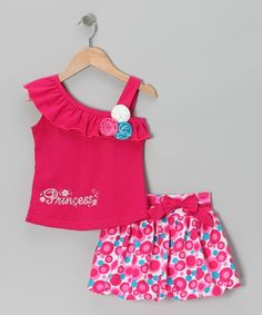 Too Cute Fuchsia 'Princess' Tank & Bubble Skirt - Infant, Toddler & Girls by Littoe Potatoes on today! Little Girl Dresses, Girls Dresses, Toddler Outfits, Kids Outfits, Kids Dress Patterns, Bubble Skirt, Special Dresses, Kids Wear, Baby Dress