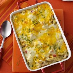 Chicken & Cheese Noodle Bake Recipe from Taste of Home -- shared by Fancheon Resler of Bluffton, Indiana
