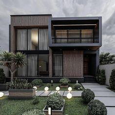 Modern Small House Design, Modern Villa Design, Modern Exterior House Designs, Exterior Design, Exterior Colors, Architecture Pdf, Modern Architecture House, House Outside Design, House Front Design