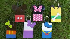 Mickey Mouse Club House Character Goodie Bags by MommaKaysKrochet Mickey Mouse House, Fiesta Mickey Mouse, Mickey Mouse Clubhouse Birthday Party, Mickey Party, Mickey Mouse Birthday, Mickey Minnie Mouse, Pirate Party, Mickey Mouse Y Amigos, Mickey 1st Birthdays