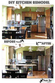 Kitchen Cabinet - Reveal!! (thanks Rustoleum!)