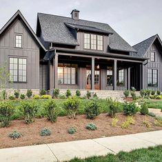 Black or White Farmhouse Design. Which One is Better , Black or White Farmhouse Design. Which One is Better , . Black or White Farmhouse Design. Which One is Better , Modern Farmhouse Exterior, White Farmhouse, Farmhouse Plans, Farmhouse Design, Black House Exterior, Exterior House Colors, Exterior Paint, Style At Home, Dream Home Design