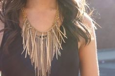 Hippie Style ♥ fringed necklace