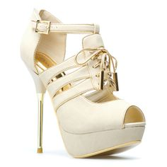 I love these...I don't even have to wear them, I just want them in my collection, that's a skinny ass heel, after that lady killed herself from falling walking down stairs in stilettos while drunk, I'ma make sure I don't drink when these are worn....