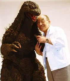 Godzilla movie suit actor is Haruo Nakajima from Sakata City! Japanese Monster Movies, Giant Monster Movies, Old Posters, Japanese Film, Classic Monsters, Creature Feature, King Kong, Behind The Scenes, Pop Culture