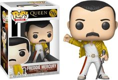 Funko Pop Rocks: Queen Freddie Mercury Wembley Action Figure for sale online Queen Freddie Mercury, Pop Vinyl Figures, Funko Pop Figures, Joey Ramone, Billy Idol, John Deacon, Brian May, Pop Rocks, Big Bang Theory