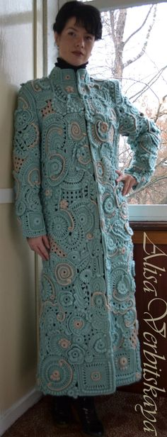 Coat Mint patterns by AlisaSonya on Etsy. Stunning handmade coat!