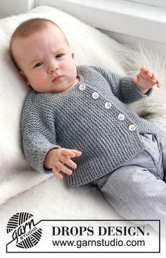 Grey Gosling / DROPS Baby 21-39 - Gebreid vest, zijdelings gebreid voor baby en kinderen in 2 draden DROPS Alpaca