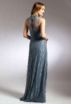 Lace Mock Neck Dress #camillelavie