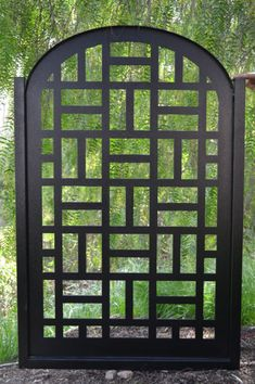 """Frame: Steel 1.5""""x 1.5"""" square. Arch: Steel 1.5"""". A great gate with clean, contemporary lines and fabulous powder coating. A perfect gate for a garden or entry way to a contemporary home. GORGEOUS, CUSTOM, HANDCRAFTED METAL ENTRY GATE!   eBay!"""
