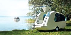 On land or sea - you can camp in style! Isn't she adorable?