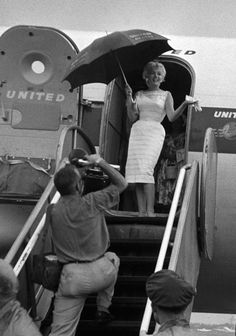Marilyn arriving at the Bement Centennial, Bement, Illinois, 1955.