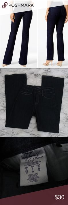 """Not your daughters tummy tuck high waist size 2 Waist: 15"""" hips: 18"""" inseam: 33"""" NYDJ Jeans Straight Leg"""