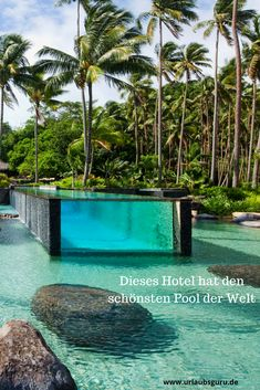 Luxus pur - Das Laucala Island Resort hat mit Abstand den schönsten Pool der Welt, oder? Ein krasses Hotel!  Foto: Laucala Island Resort