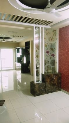 modern room divider ideas home partition wall designs for living room bedroom 2019 Glass Partition Designs, Living Room Partition Design, Pooja Room Door Design, Room Partition Wall, Living Room Divider, Bedroom Cupboard Designs, Living Room Designs, Sala Grande, False Ceiling Living Room