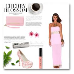"""Cherry Blossom"" by kaesha-blu on Polyvore featuring Charlotte Russe, Alice + Olivia, Dsquared2 and Bobbi Brown Cosmetics"