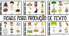 produção de texto, fichas de produção de texto, ideias para produção de texto Classroom, Writing, Comics, School, Cards, 1, Literacy Activities, Kids Activity Ideas, Activity Books