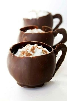 Creamy Hot chocolate cups