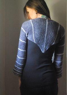 FLATLINE Knitting Pattern Shrug PDF by NorthboundKnitting on Etsy, $4.50
