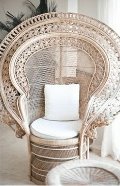 Bohemian Bride / Registry Signing Table / Peacock Chairs