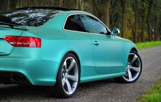 Matte Turquoise Audi RS5