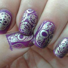 Purple Mexican motif